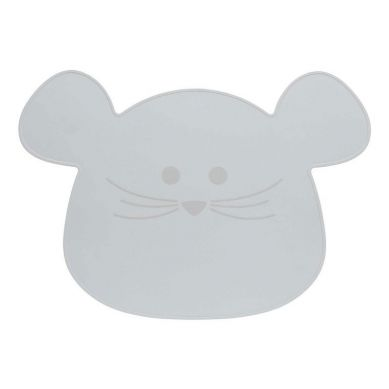 Lassig - Silikonowa Mata Podkładka Little Chums Mysz Szara