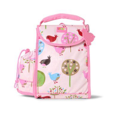 Penny Scallan - Plecak Lunchbox z Osobną Kieszonką na Picie Różowy w Ptaszki