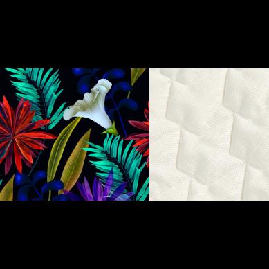 La Millou - Kocyk/Narzutka Przedszkolaka Velvet Collection 110x140 Botanic Garden Rafaello