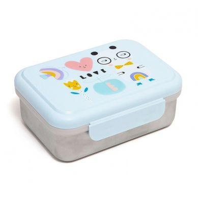 Petit Monkey - Lunchbox ze Stali Nierdzewnej Panda Love