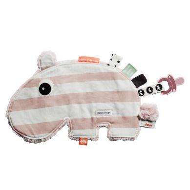 Done By Deer - Przytulaczek Paski Różowe Hipopotam