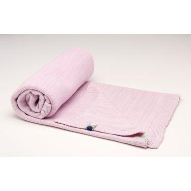 Snoozebaby - Tkany Kocyk Bawełniany 75x100 Różowy