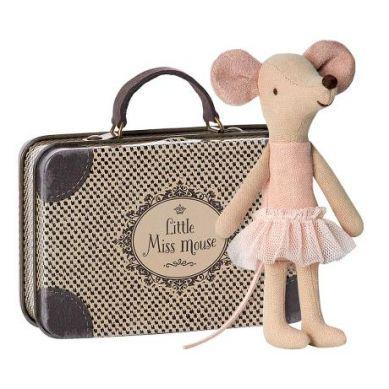 Maileg - Przytulanka Myszka Ballerina w Walizeczce