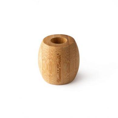 Humble Brush - Ekologiczna Bambusowa Podstawka na Szczoteczkę Manualną z Drzewa Bambusowego