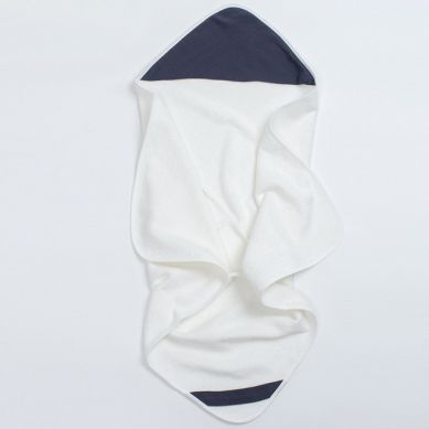 Bim Bla - Bambusowy Ręcznik z Muślinowym Kapturkiem Granatowy