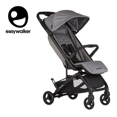 Easywalker - Miley Kompaktowy wózek spacerowy ze zintegrowaną torbą transportową Granite Grey