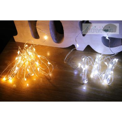 Cottonove Love - Kropelki Światła Łańuch na Baterie Zimne 30 LED