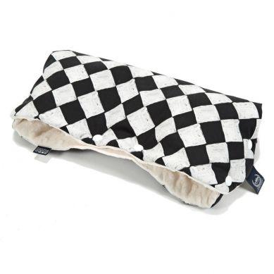 La Millou - Mufka do Wózka Premium Follow Me Chessboard Ecru
