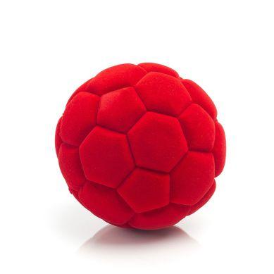 Rubbabu - Duża Piłka Sensoryczna z Mocną Fakturą Futbolowa Czerwona