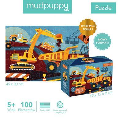 Mudpuppy - Puzzle z Błyszczącą Folią Budowa 100 Elementów