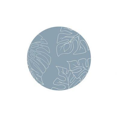 Toddlekind - Mata Ochronna Podłogowa Okrągła Clean Wean Mat Jungle Teal Blue