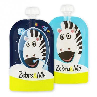 Zebra & Me - Saszetki do Karmienia Wielorazowe Astro 2szt.
