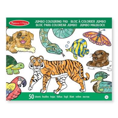 Melissa&Doug - Zestaw do Kolorowania Jumbo Zwierzęta
