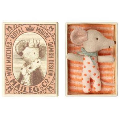 Maileg - Przytulanka Śpiąca Myszka w Pudełeczku Girl
