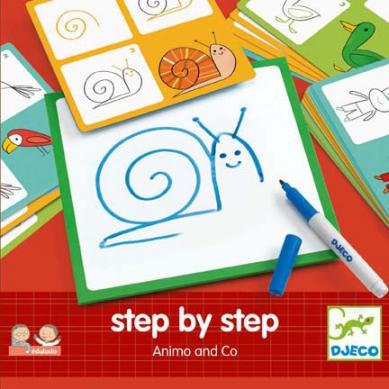 Djeco - Nauka Rysowania Krok Po Kroku Zwierzątka