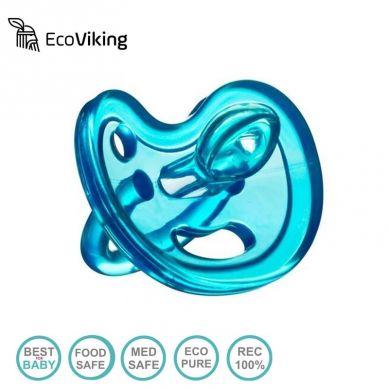 Eco Viking - Anatomiczny Smoczek Uspokajający SiliMed Blue 0m+