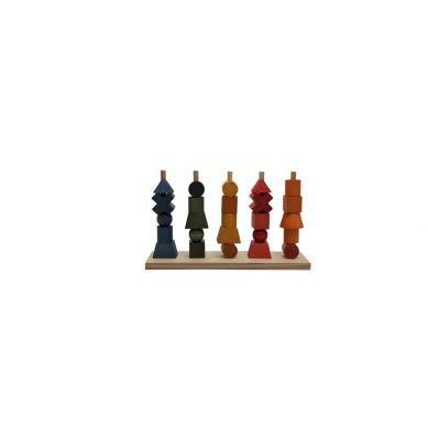 Wooden Story - Układanka Kolorowa Płotek