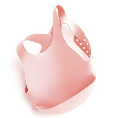 Minikoioi - Śliniak Silikonowy z Kieszonką Różowy