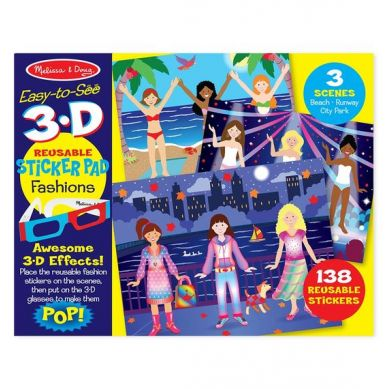Melissa&Doug - Zestaw Naklejek Wielokrotnego Użytku 3D Fashions