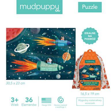 Mudpuppy - Puzzle w Woreczku 36el. Kosmos