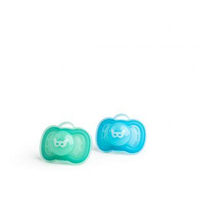 Herobility - Smoczek Uspokajający HeroPacifier 6m+ Niebieski/turkusowy 2 szt.