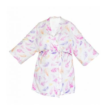 Lullalove - Szlafrok / Kimono Bambusowe - Paprocie Róż