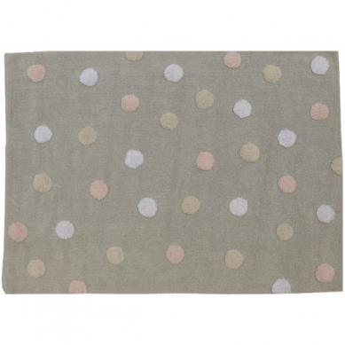 Lorena Canals - Dywan do Prania w Pralce Tricolor Dots Pink