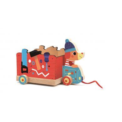 Djeco - Drewniana Zabawka Do Ciągnięcia Jo Truck