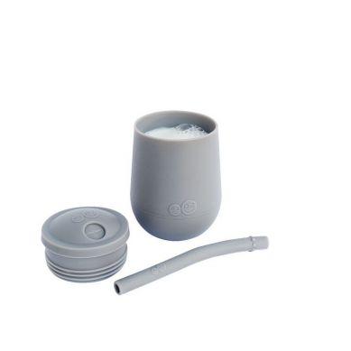 EZPZ - Silikonowy Kubeczek ze Słomką Mini Cup + Straw Training System 120 ml Szary
