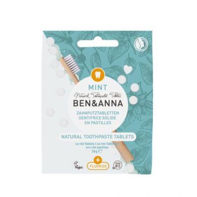 Ben and Anna - Naturalne Tabletki do Mycia Zębów z Fluorem 36 g