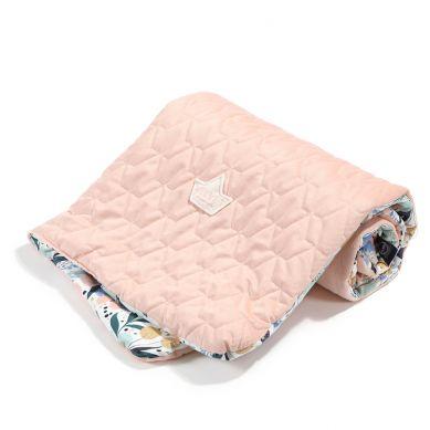 La Millou - Kocyk Średniaka Velvet Collection Fairytale Land - Powder Pink 80x100cm
