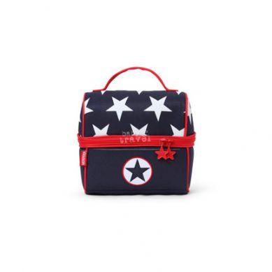 Penny Scallan - Lunchbox z Zamkiem na Środku Granatowy w Gwiazdy