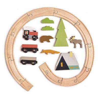 Tender Leaf Toys - Drewniana Kolejka 3+