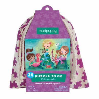 Mudpuppy - Puzzle w Woreczku 36el. Syrenki