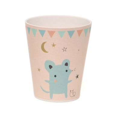 Petit Monkey - Kubeczek Bambusowy Mouse Peach