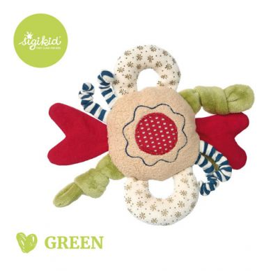 Sigikid - Przytulanka Aktywizująca Kwiatek z Wypustkami, Grzechotką i Szeleszczącą Folią kolekcja Ekologiczna Green