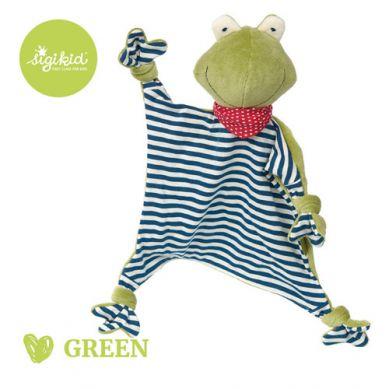 Sigikid - Przytulaczek – komforter Żabka Kolekcja Ekologiczna Green