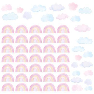 Pastelowelove - Naklejki Mini Tęcze Różowe