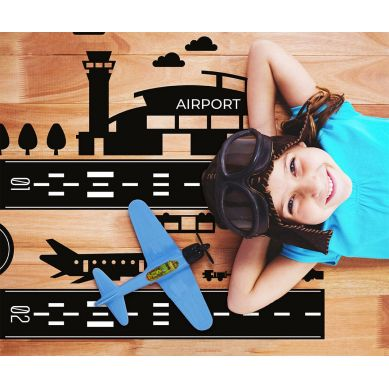Pastelowelove - Naklejka na Podłogę Lotnisko
