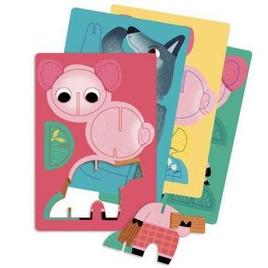 Auzou - Puzzle 3 Świnki z Przestrzennymi Zwierzątkami 3+