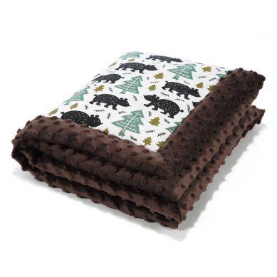 La Millou - Kocyk Niemowlaka 65x75 cm Alaska Baribal Chocolate