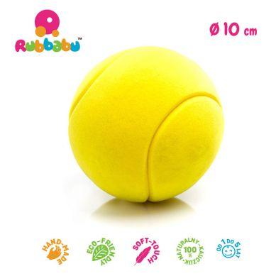 Rubbabu - Duża Piłka Sensoryczna z Mocną Fakturą Tenisowa Żółta