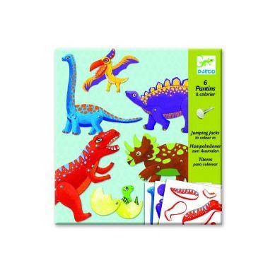 Djeco - Ruchome Składanki Dinozaury