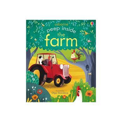 Wydawnictwo Usborne Publishing - Peep inside a farm