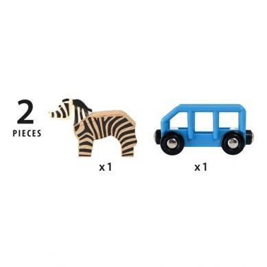 BRIO - World Wagon z Zebrą Safari