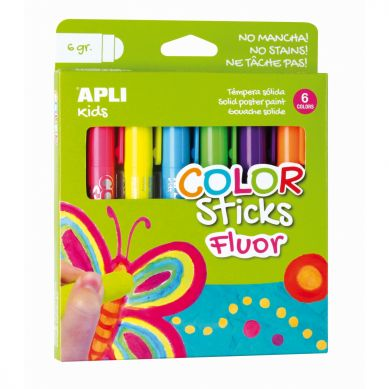 Apli Kids - Farby w Kredce 6 kolorów Neonowe