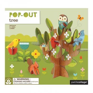 Petit Collage - Puzzle Przestrzenne Drzewo