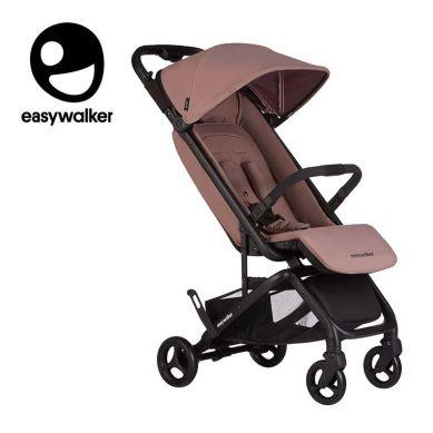 Easywalker - Miley Kompaktowy wózek spacerowy ze zintegrowaną torbą transportową Desert Pink