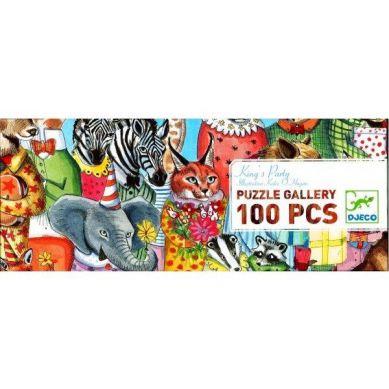 Djeco - Puzzle 100 Przyjęcie u Króla