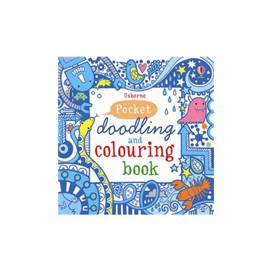 Wydawnictwo Usborne Publishing - Pocket Doodling and Colouring Book: Blue